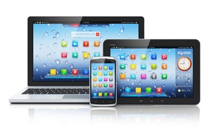 laptop,tablet and smartphone